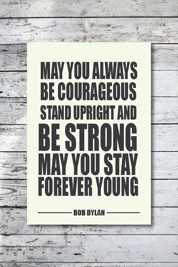 Forever Young Bob Dylan Lyrics Music Poster Wall Art Art