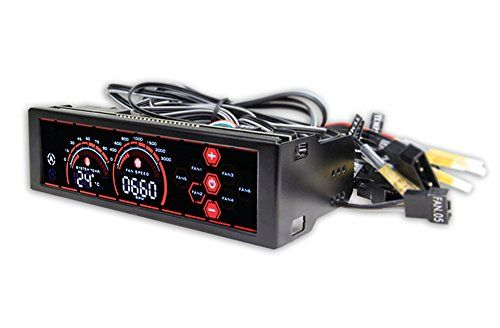 fonrest WiFi verbunden Front Panel Controller 13,3�cm LCD Touch Sensor Bildschirm 6�Kan�le Computer Fan Geschwindigkeit und Temperatur Controller rot