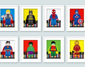 This Imges Have Few Different Lego Characters And It Is Part Of - Lego superhero wall decals