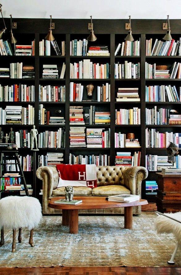 Masculine Home Office Decor Bookcases