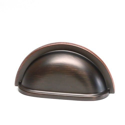Bayport House Oil Rubbed Bronze Highlighted Cup Pull #20042-OBH