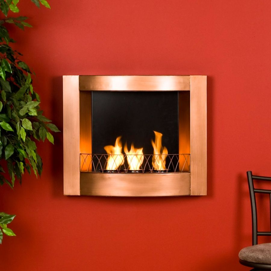 Wall Mount Gel Fuel Fireplace Copper At Hsn Com Fireplaces