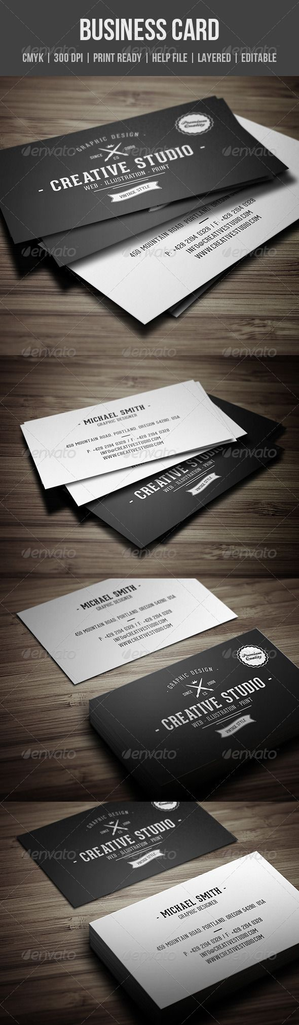 Vintage Business Card Business Cards Minimal Business Card And