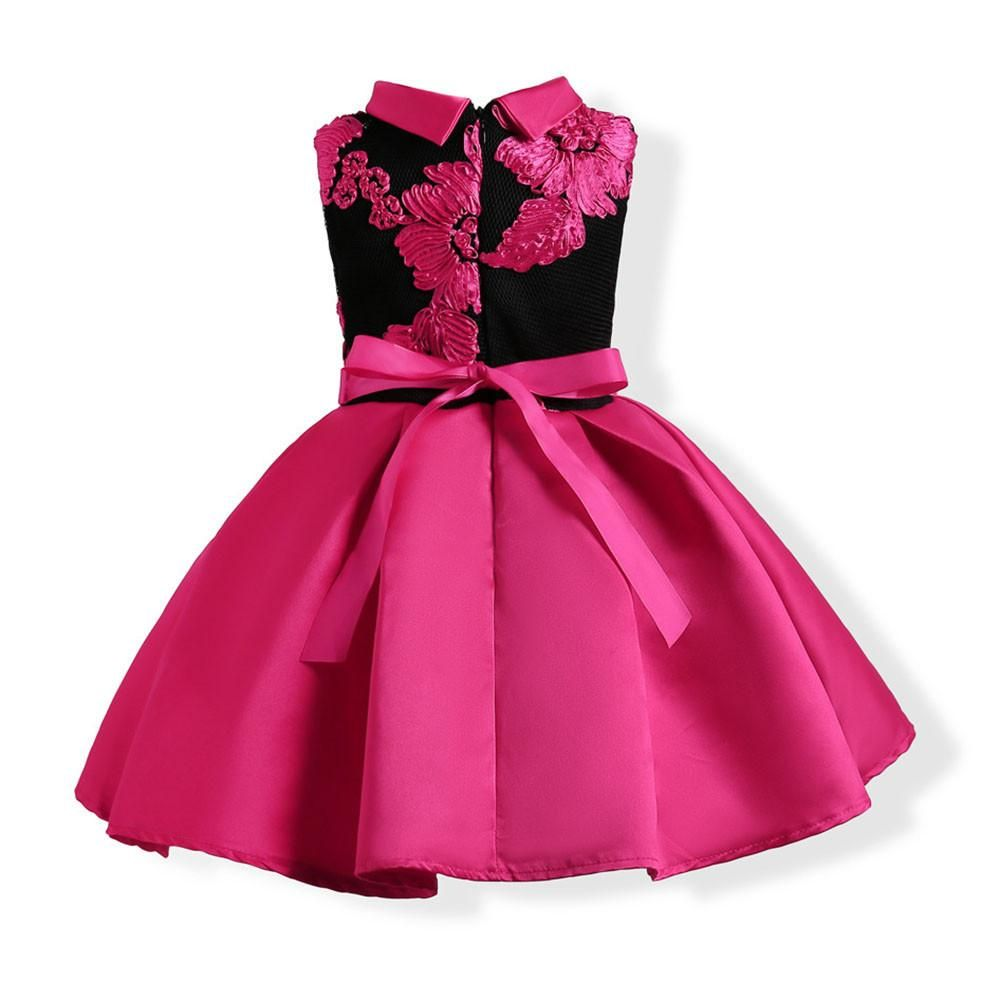 f7e536d18 Child Girls Princess Dress Kids Party Flowers Embroidery Wedding Formal  Dresses