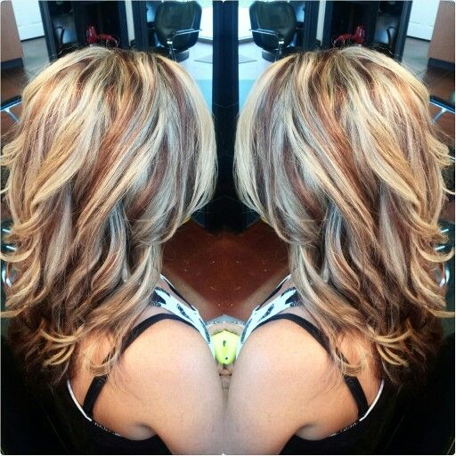 Hair Color Ideas For Blondes Lowlights : Red and blonde hair. redken red lowlights platinum