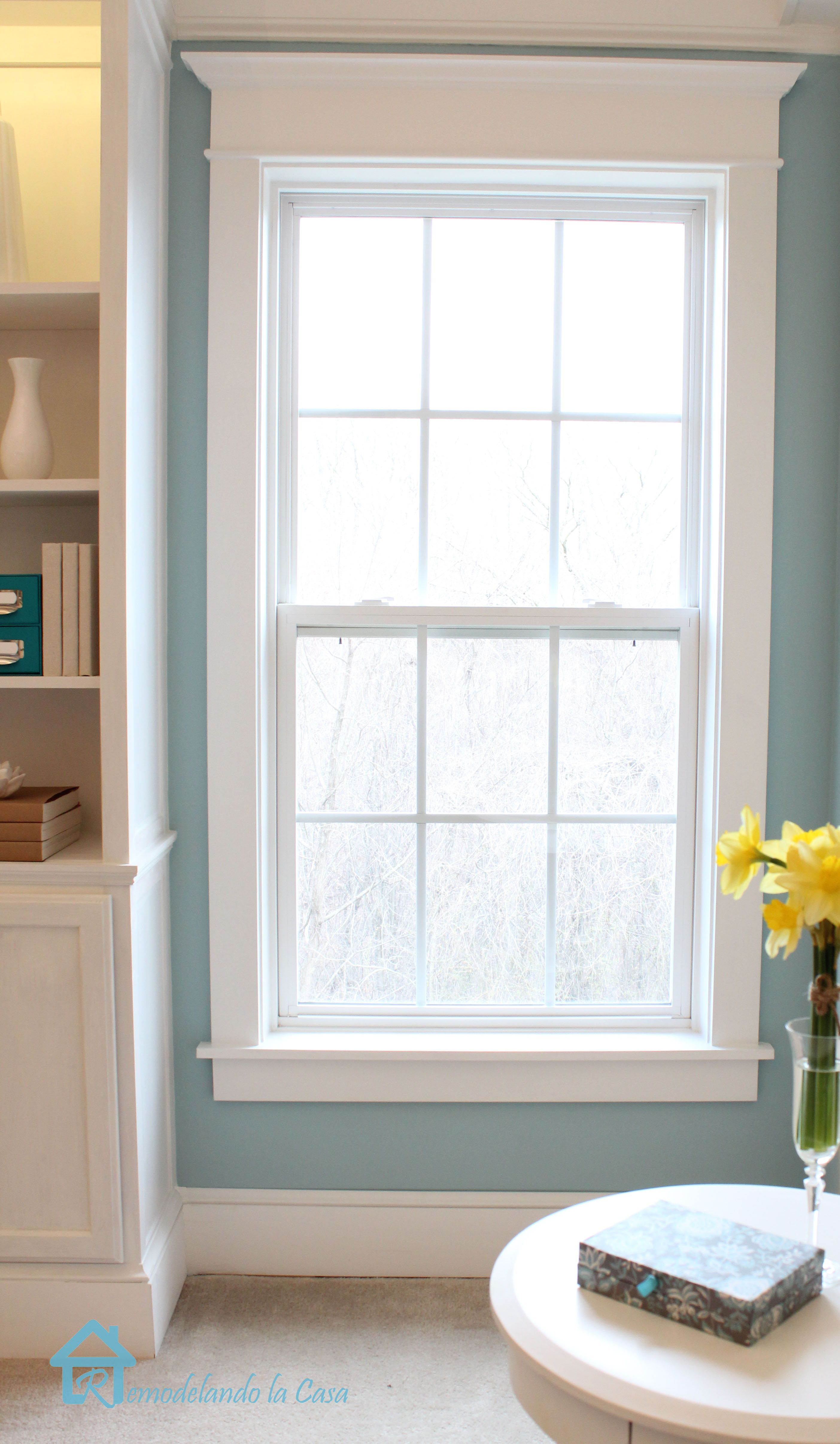 Window casing ideas  new trimmed window how to install window trim  rooms  pinterest