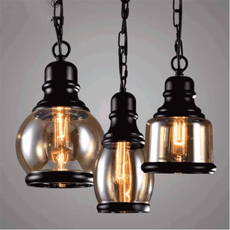 54.06$  Watch now - http://aliup5.shopchina.info/go.php?t=32650827074 - Vintage Loft Fashion Handmade Iron Glass Hemp Rope Led E27 Pendant Light for Dining Room Restaurant Bar AC 80-265V 1398 54.06$ #magazineonlinewebsite