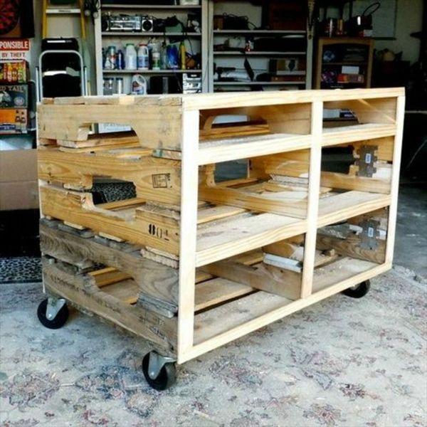 Kücheninsel selber bauen paletten  servierwagen aus europaletten diy möbel | Palette | Pinterest ...