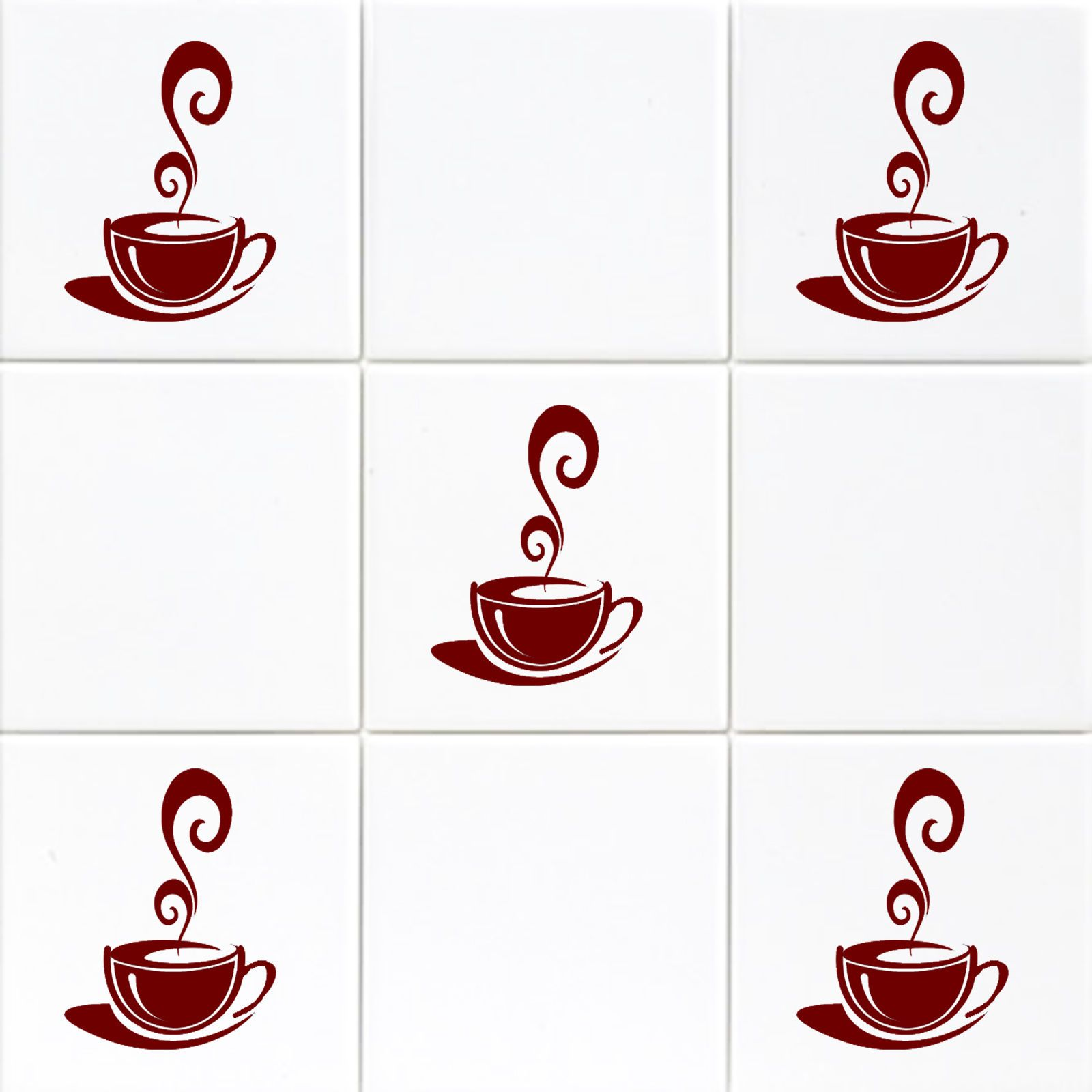 coffee cups kitchen wall stickers cafe tiles wall mural vinyl art