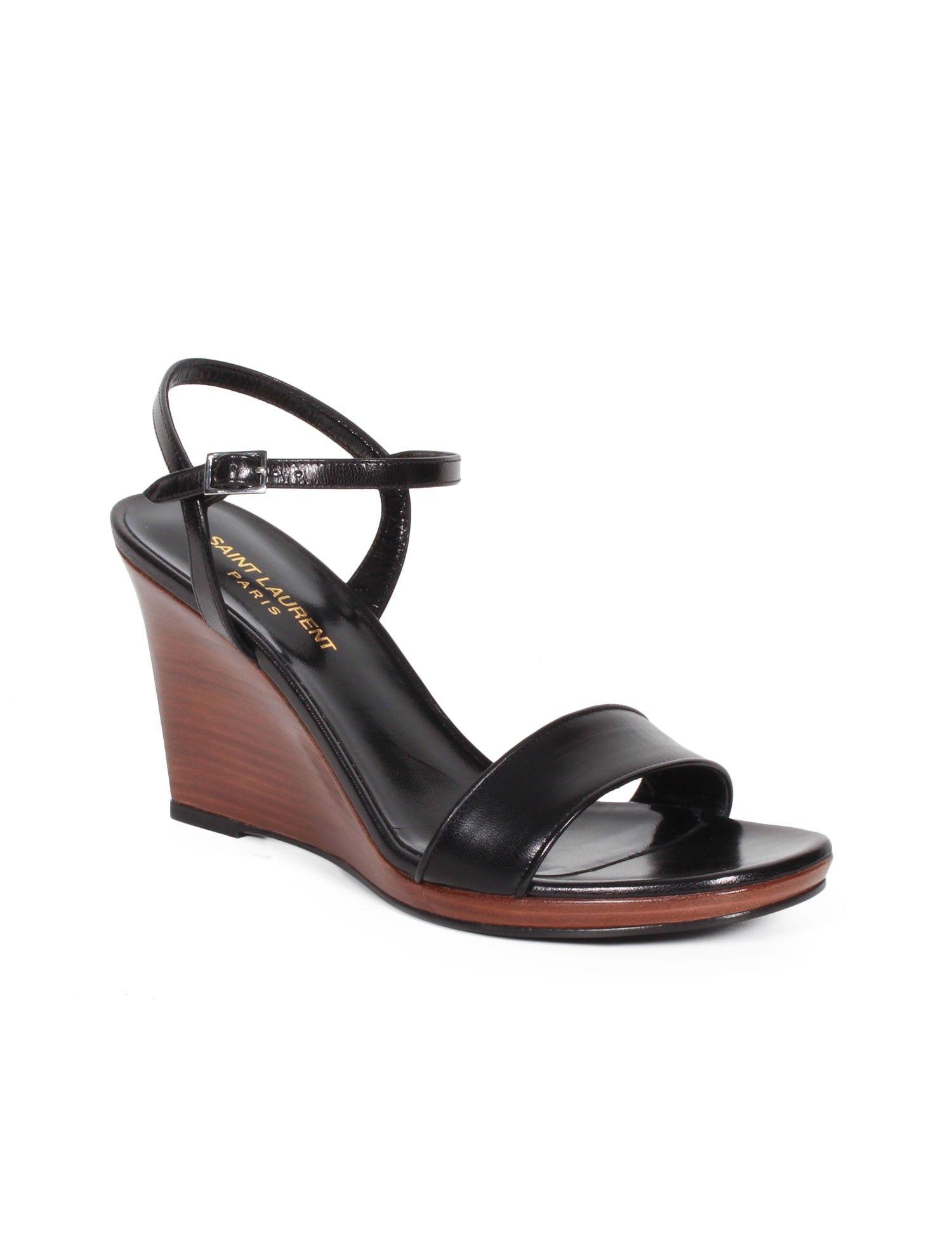 chaussures femme - saint laurent paris - sandales compensées