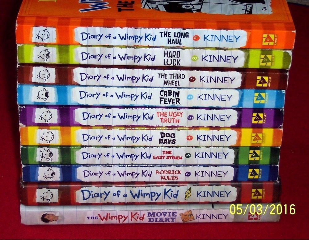 10 Diary Of A Wimpy Kids Books Series 1 2 3 4 5 6 7 8 9 Movie