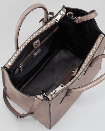 584a9c50e9313a Prada Glace Calf Twin Pocket Tote Bag, Gray - Neiman Marcus | I want ...
