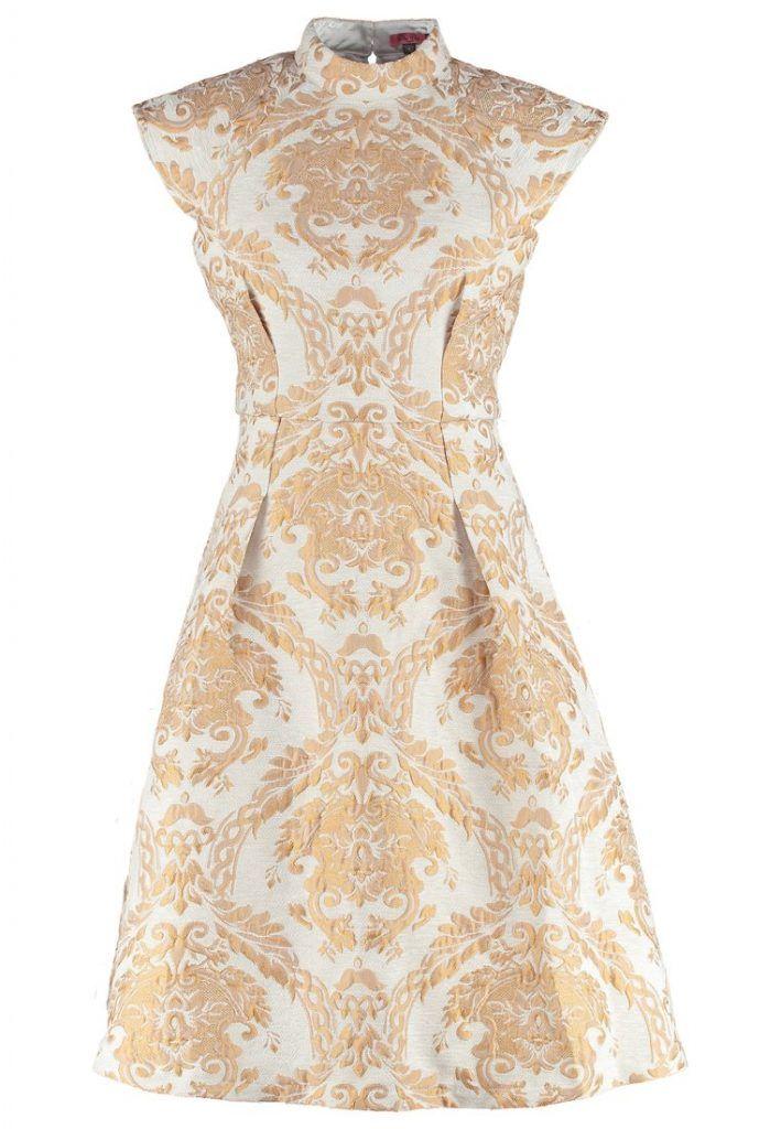 Damen Chi Chi London CHAR Cocktailkleid / festliches Kleid cream ...