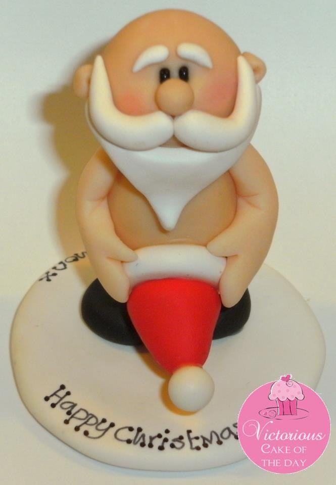 Cheeky Santa! #marsipanfigurerjul
