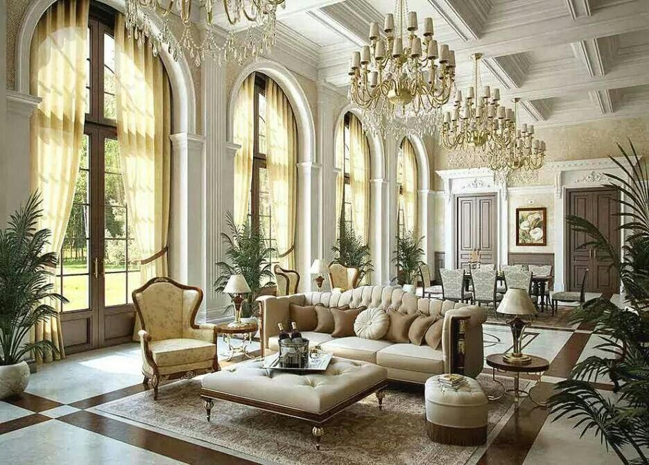 ♥ Gorgeous Design Of A Royal Style Living Room With High Doors Beauteous Living Room Designes Creative Inspiration Design