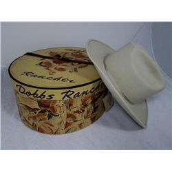 Vintage Dobbs Hat Box With Felt Cowboy Hat  8fa6c57d6ea