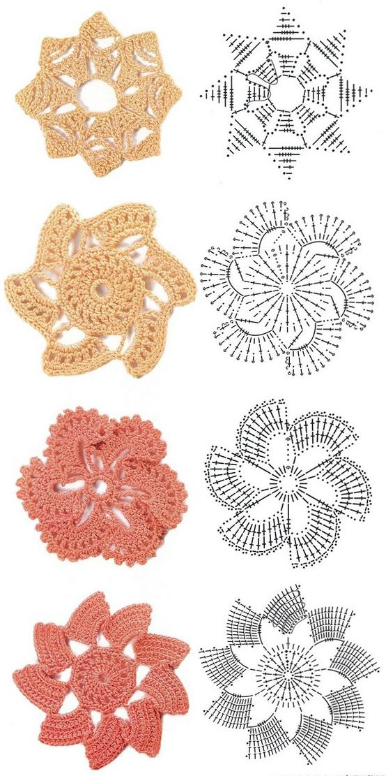 Irish Crochet Motif Diagrams 发帖者 Joyce Cai 时间 2 00 00 Am