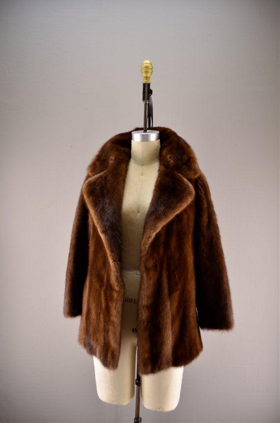 Mink Coat Value >> 1950s Mink Coat Vintage Fur Coat 50s Cropped By Melsvanity