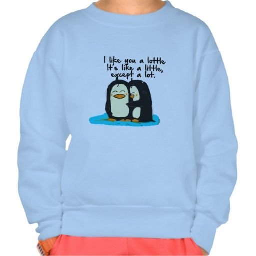 I like you a lottle Girls Sweatshirt