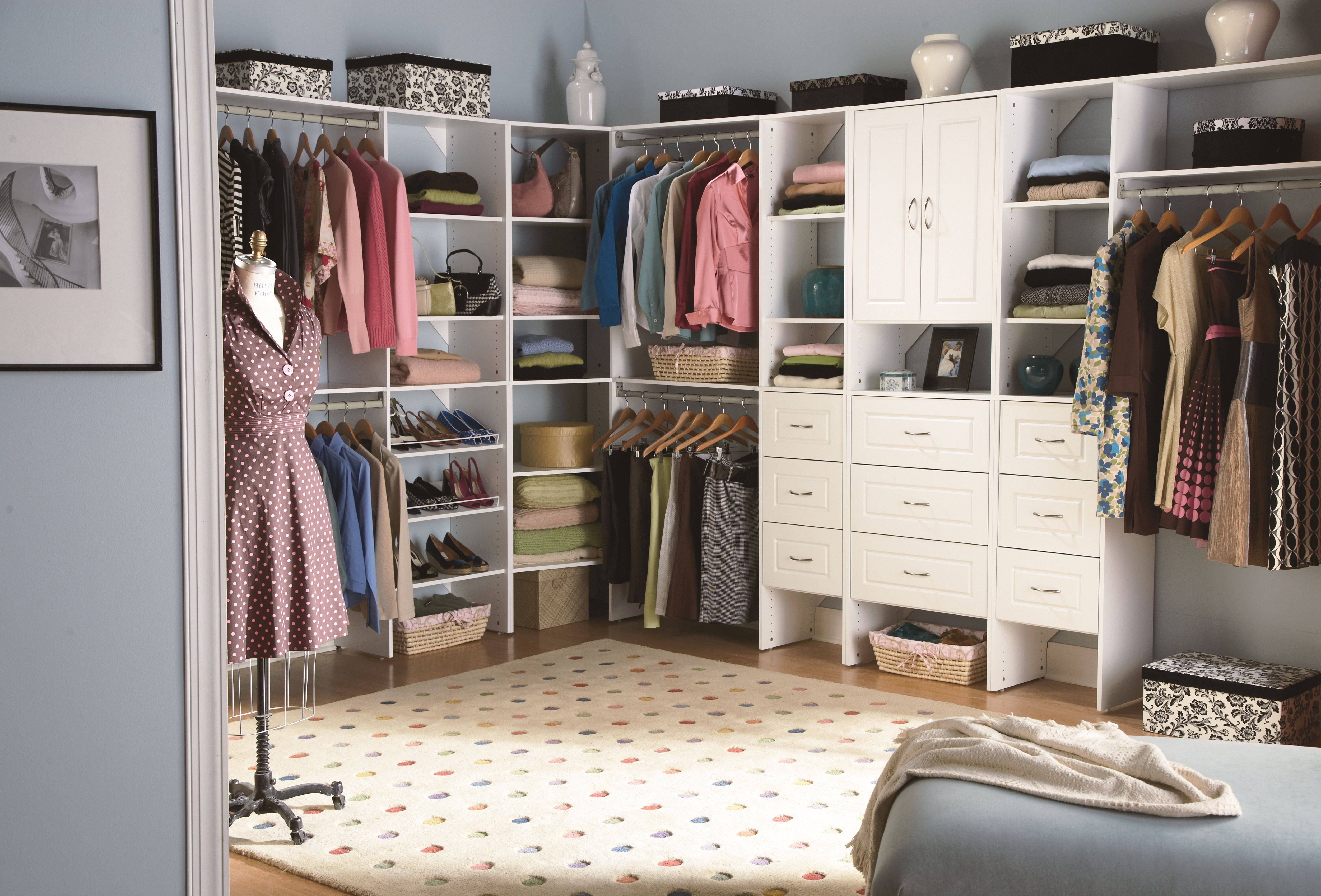 Make a small room a walk-in closet. Not every home is built with ...