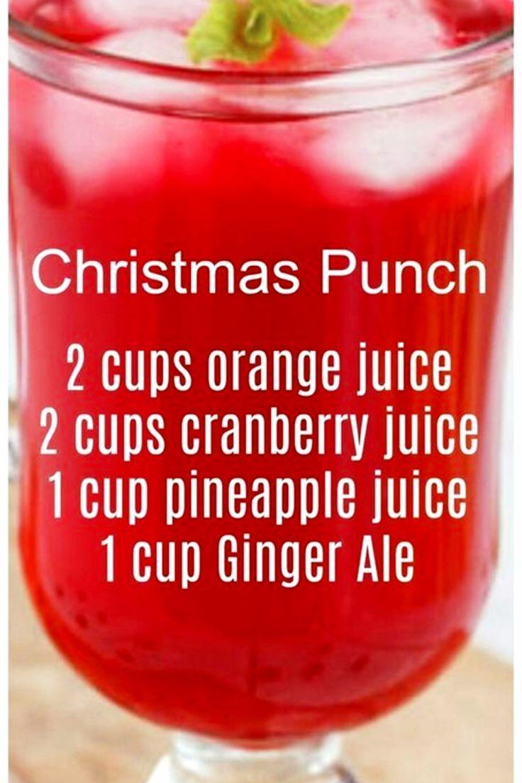 christmas recipes #weihnachten 7 Easy Punch - Rezepte fr eine Menschenmenge - Einfache Party - Getrnke - Ideen (sowohl alkoholfrei als auch mit Alkohol) - #einfache #getranke #ideen #menschenmenge #party #punch #rezepte #christmas