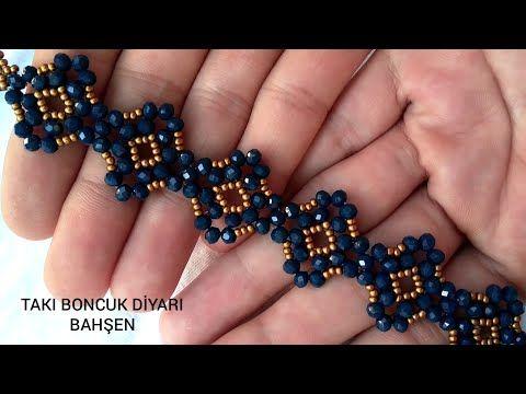 Kristal boncuk bileklik yapımı/Crystal bead bracel
