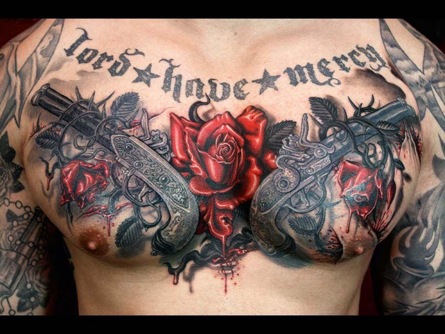 Black Grey Tattoo Vol 2 Dark Horror Cool Chest Tattoos Tattoos Pieces Tattoo