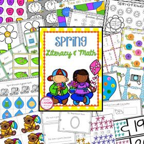 11 Spring literacy and math center activities