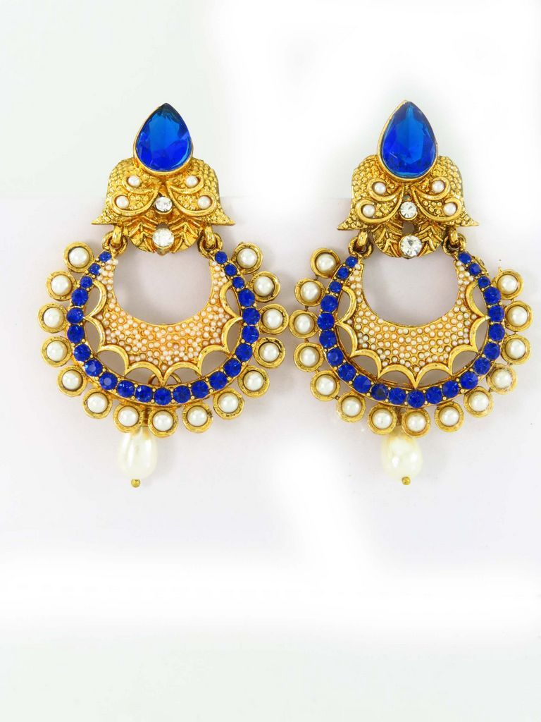 Round Solitaire Earrings Are Made Of Zinc Alloy We At Star Divine Selling Imitation  Jewellery