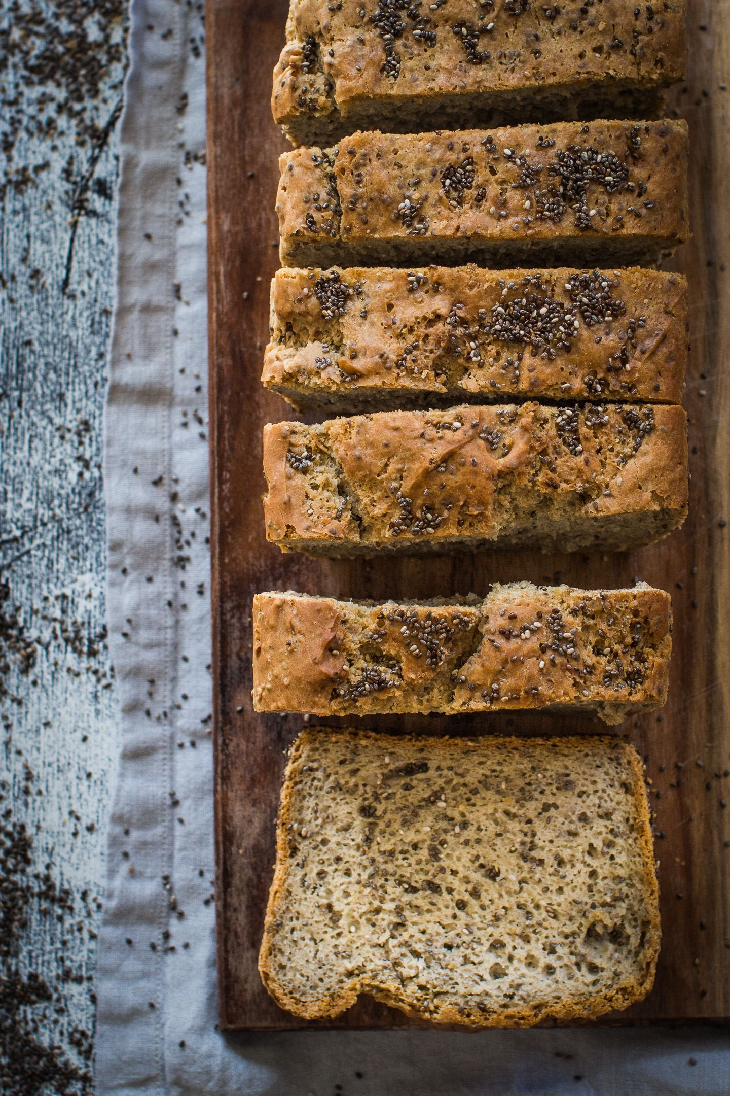 High Fibre Buckwheat Chia Gluten Free Bread Recipe Helen Tzouganatos Gluten Free Recipes Recipe In 2020 Gluten Free Bread Buckwheat Bread Bread Recipes
