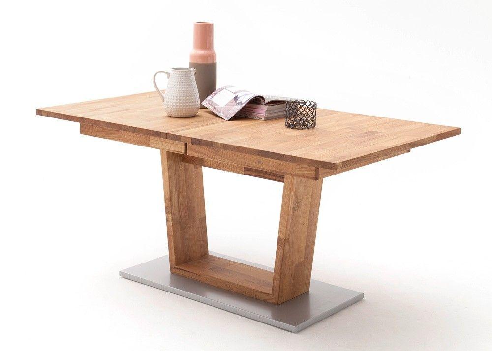 Tisch Cassandra 160x90 Esstisch ausziehbar Holz Massiv Wildeiche