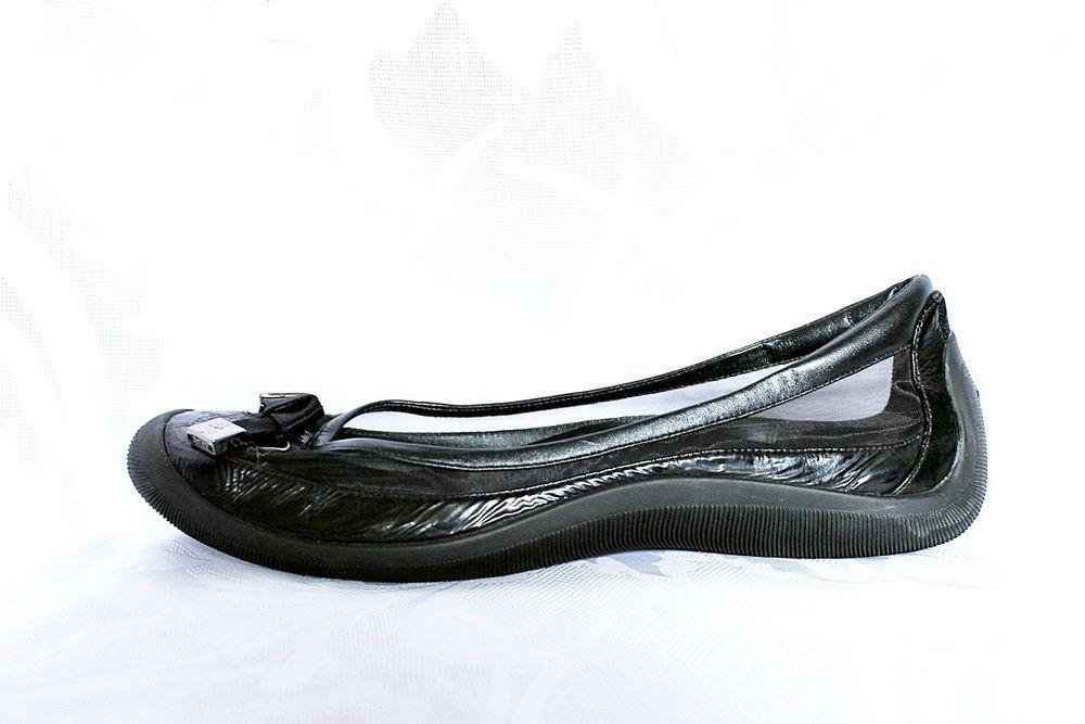 72fb15da3 COLE HAAN G Series Lab Elgin Ballet Flats Shoes Black 9.5 Bow Mesh Slip on  Bow