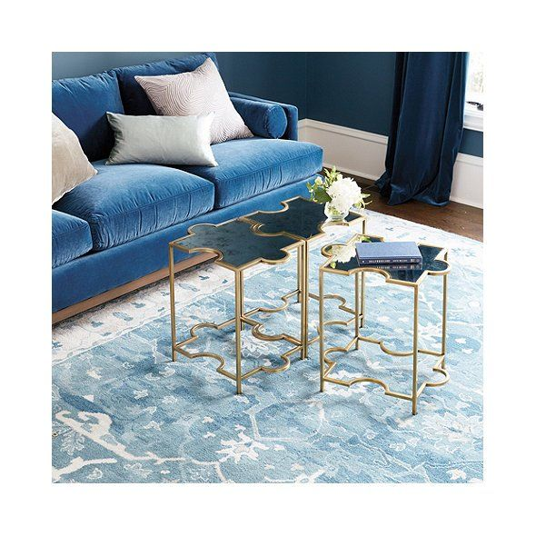 Rollins Console Table: Abbey Jigsaw Bunching Table