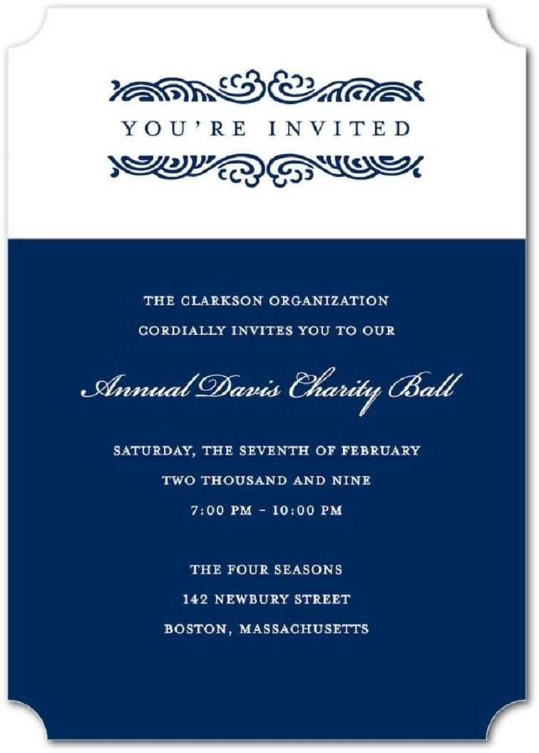 business party invitation  Corporate invitation, Business events
