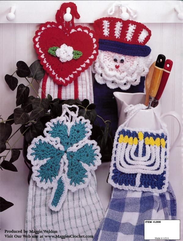 Holiday Towel Toppers Crochet Pattern Leaflet | Dos agujas ...