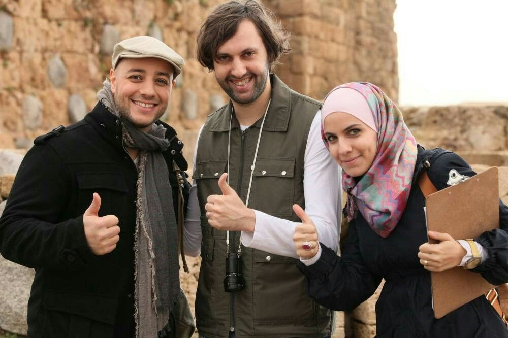 MAHER ZAIN at the set of wahishna with the music director