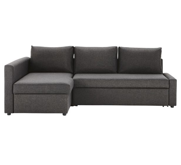 Uptown 3 Seater Sofa Bed With Standard Global Charcoalstandard