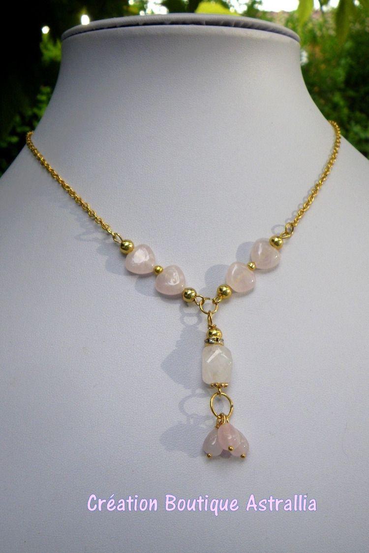 8 MM 6 roses quartz perles dans rosè