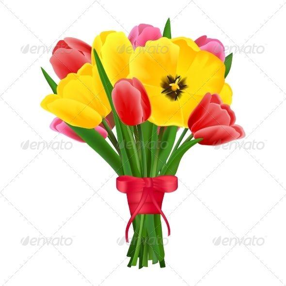 Tulip Flower Bouquet | Tulips flowers, Flower bouquets and Flower