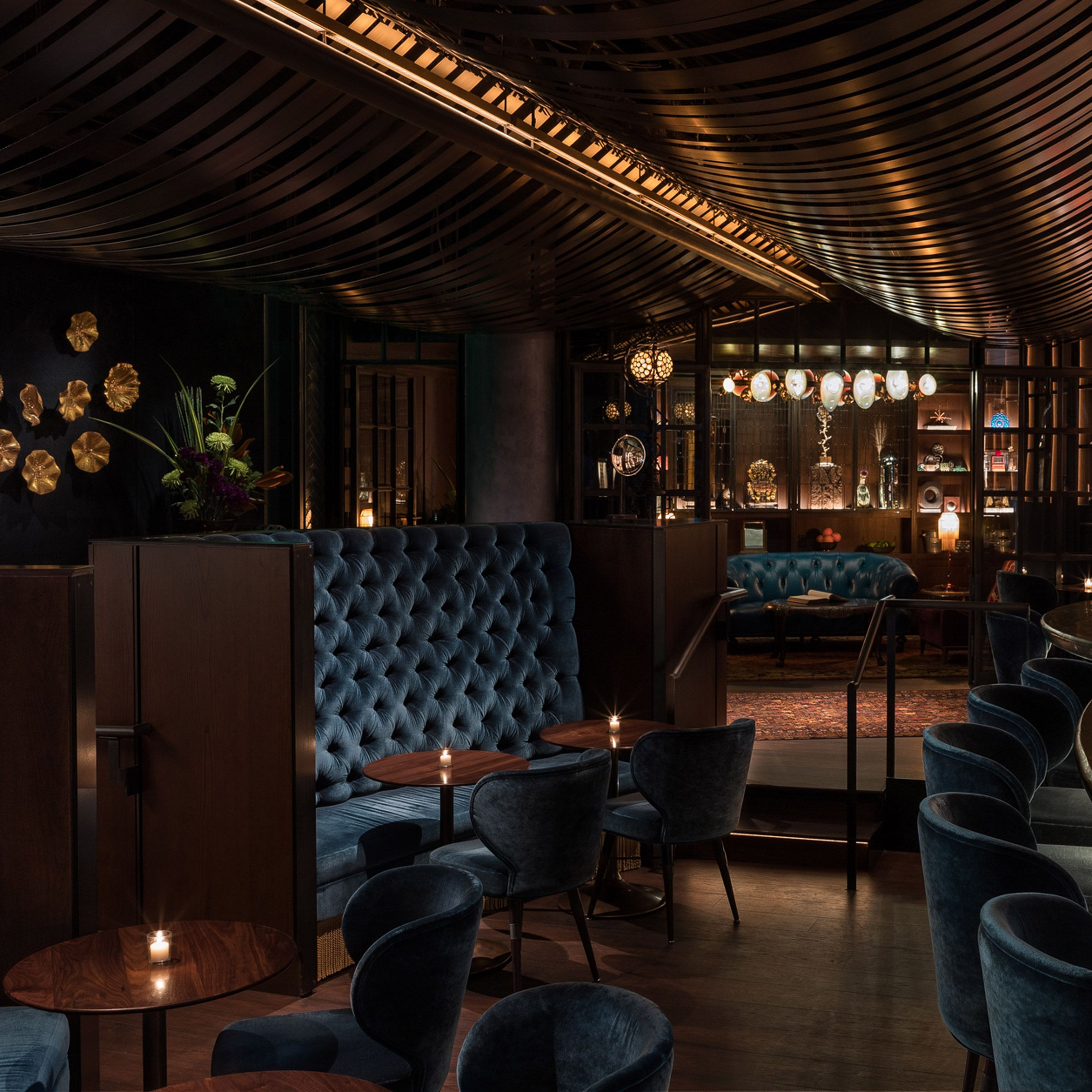 Graham Baba Designs Moody Deep Dive Speakeasy At Amazon S Seattle Headquarters Us Studio Graham Baba Architects Took Cues From Luxury Bar Architect Bar Design