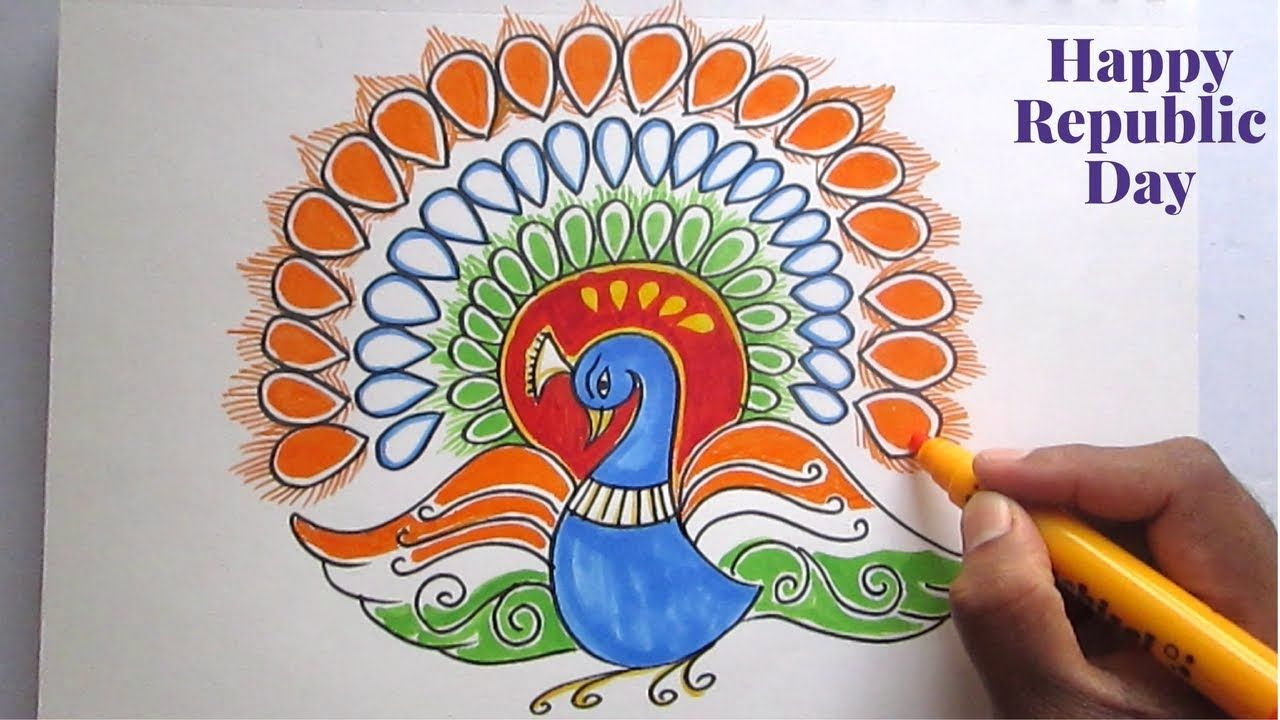 Creative Drawing (Happy Republic Day ) For Kids | Creative ...