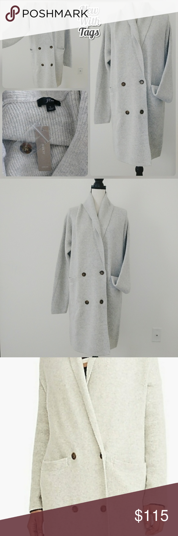 Nwt J Crew Double Breasted Cardigan Coat Soft Cardigan Coat Clothes Design Double Breasted Cardigan