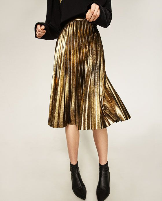 Womens Velour Pleated Skirt Simply Be