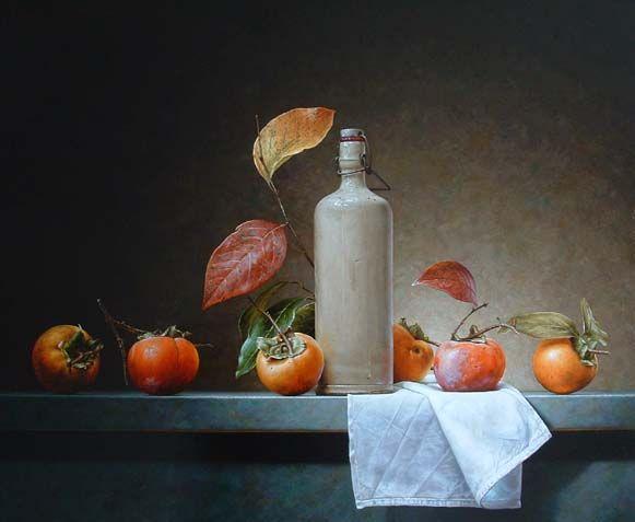 Roman Reisinger - Still life with persimmons