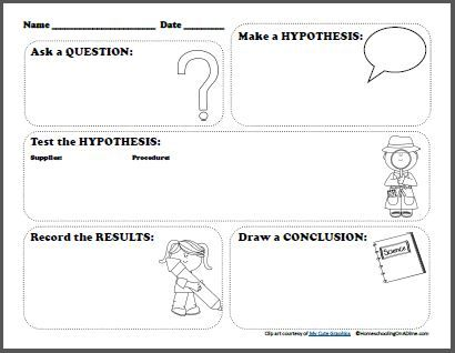 Free Scientific Method Printable Worksheet for Kids Things we need
