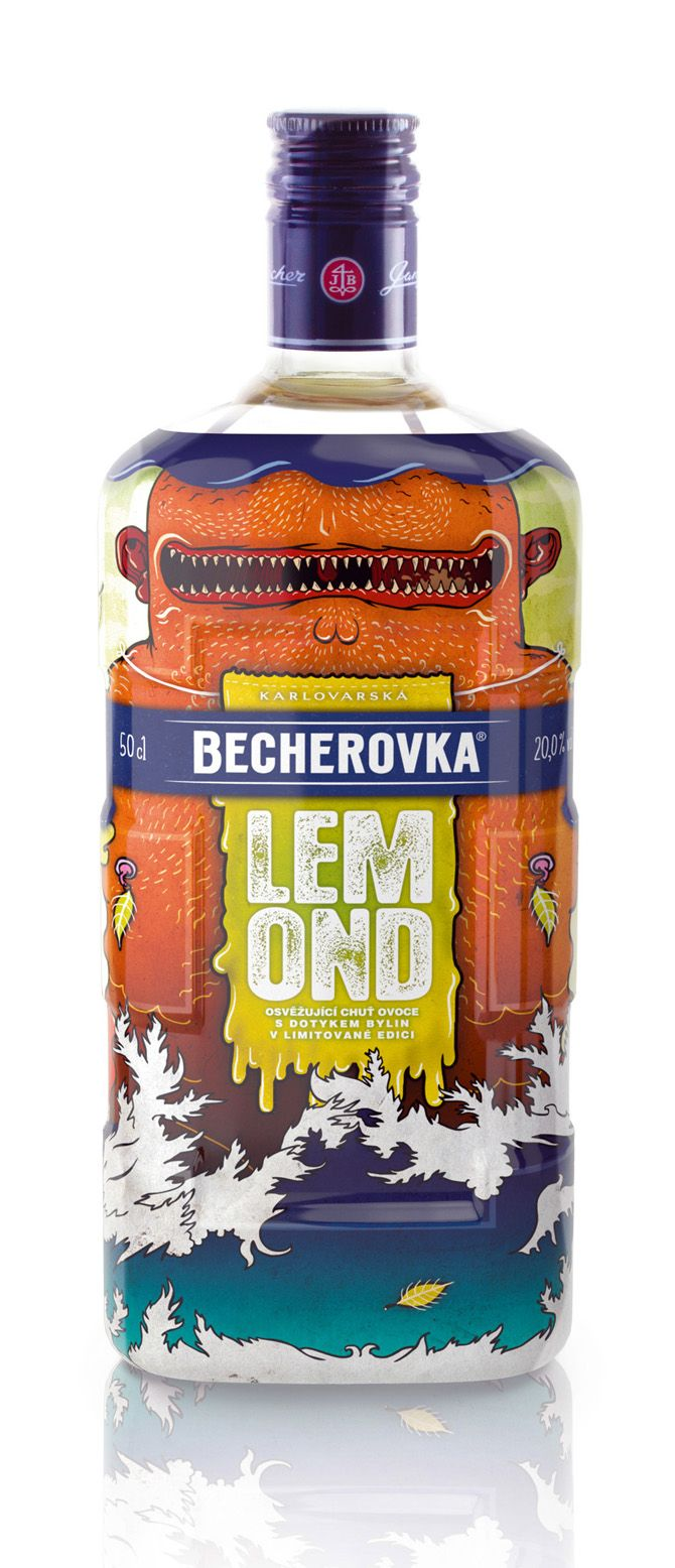 Becherovka Lemond Limited Edittion Packaging Am Licor Botellas