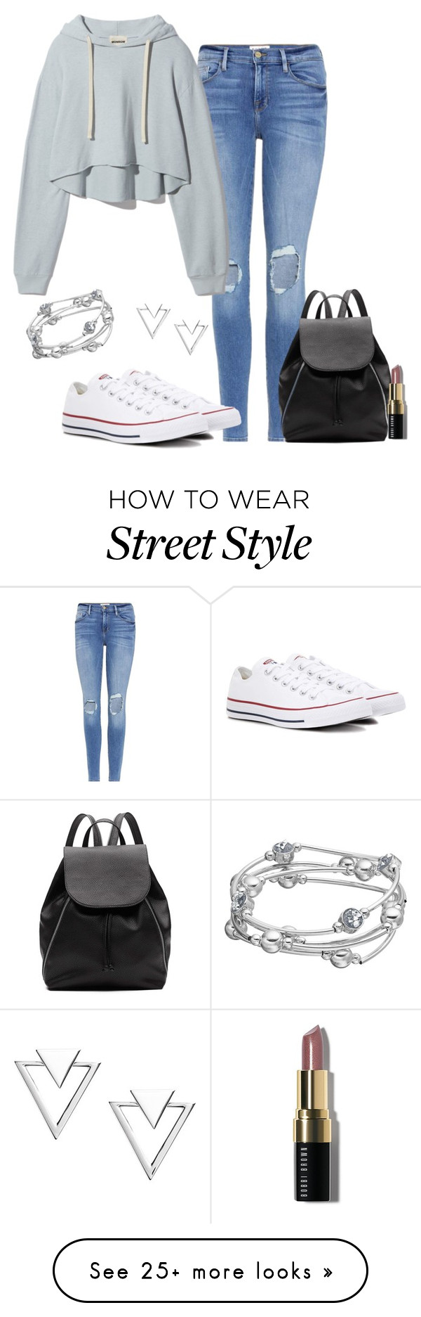 """""""Street style"""" by cris-1121 on Polyvore featuring Frame, Converse, Witchery, Nadri and Bobbi Brown Cosmetics"""