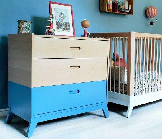 Mueble para guardado con grandes cajones y cuna adaptable según ...