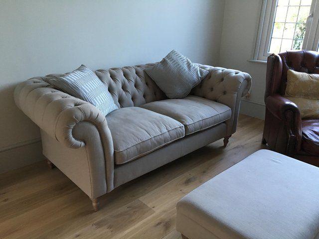 Sensational Hardly Used Harveys 3 Seater Chesterfield Sofa Bought 5 Dailytribune Chair Design For Home Dailytribuneorg