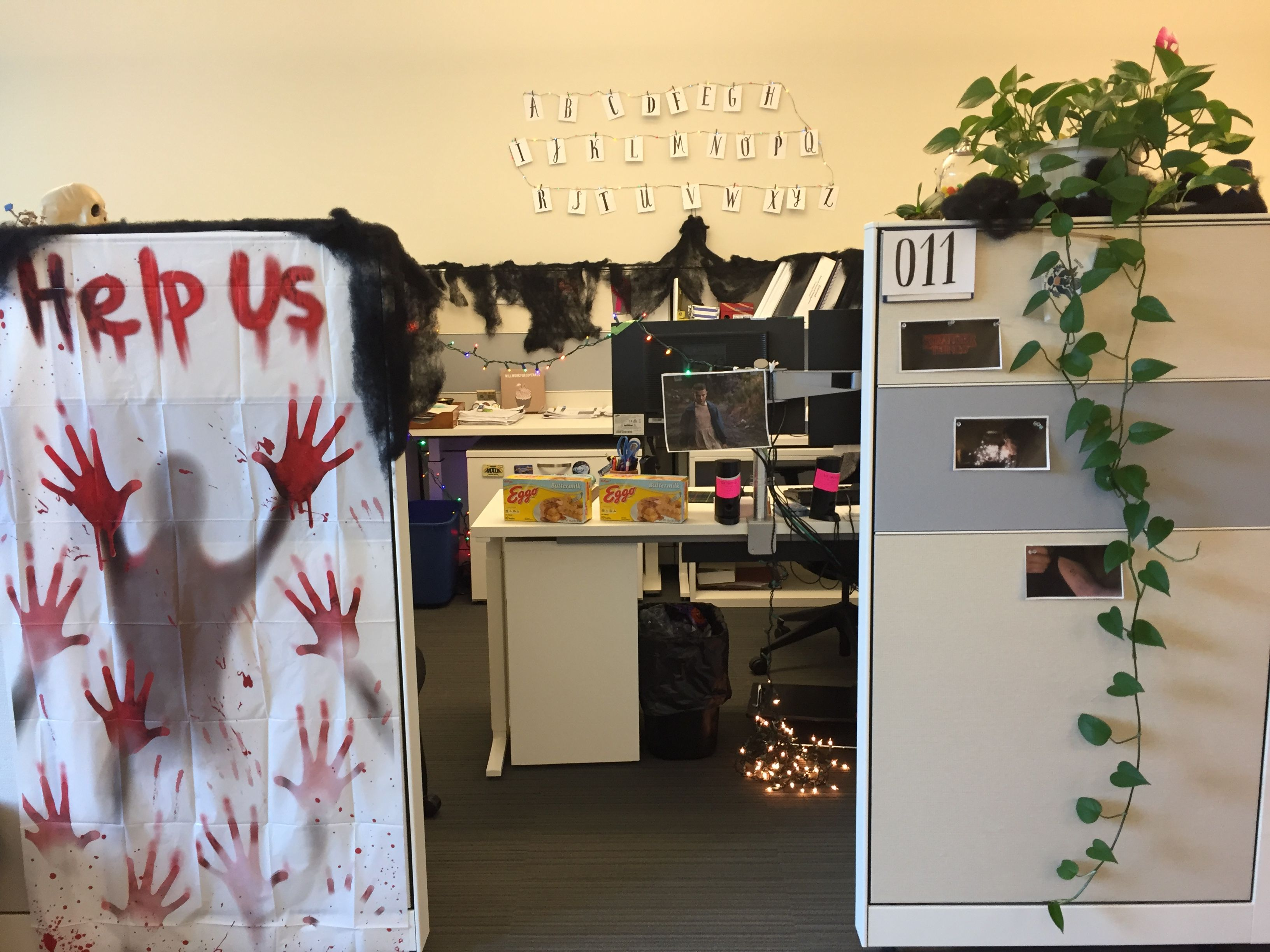 Stranger Things Cube Decorations Halloween Cubicle Office